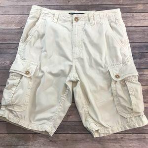 American Eagle Men's Cream Cargo Shorts, 34 NWT